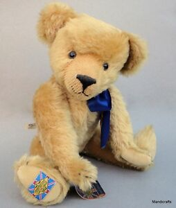 Merrythought Diamond Jubilee Teddy Bear Mohair Plush 1990 LE 703/2500 16in Tags