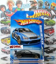 Hot Wheels 2009 #152 Mercedes AMG CLK DTM CUSTOM FLAT BLACK,GOLD OH5SP,GOLD BASE