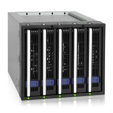 ICY DOCK FatCage MB155SP-B 5x 3.5 SATA 6Gbps HDD Hot Swap Rack Cage 3x 5.25 bay
