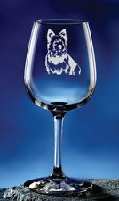 Personalized Norwich Terrier Pet Dog Etched Wine Glass 12.75oz
