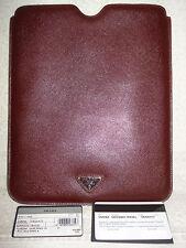 100% AUTHENTIC PRADA BURGUNDY IPAD COVER/CASE