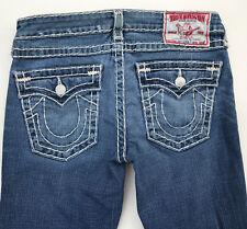 EUC RRP $499 Womens Stunning True Religion Brand 'JOEY SUPER T' Indigo Jeans 30