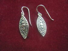 1775 OLD PAWN Sterling Silver FILIGREE DROP EARRING