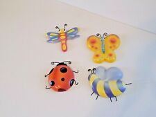 .Set of 4 Kids Wall Hanging Decor w Butterfly, Dragonfly, Lady Bug & Other Bug