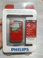 Philips GoGear Vibe (4GB) Digital Media MP3 Player Red. New Sealed