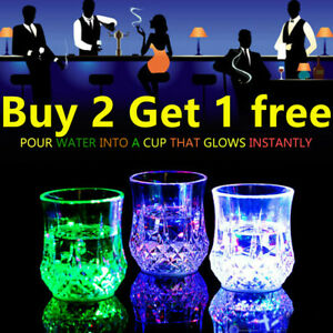 LED Flashing Light Up Drink Beer Water Cups Glasses Wedding Hen Stag Party Bar %