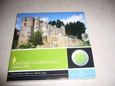 Luxemburg 5 Euro PP Niob 2013 Chateau de Beaufort Folder Luxembourg Niobium