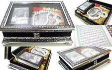 Koran Truhe+Gebetsteppich+CD+Tesbih+Quran Arabisch *Seccade Allah Islam Muslim*