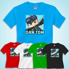Dan TDM T Shirt Top minecart Cool Cart DanTDM Adventures Gamers Stampy Cat