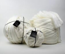 10kg Bale NEW Off White Mammoth Giant Super Chunky Extreme Arm Knitting Yarn Big