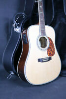 Top Quality 45 Electric Acoustic Guitar Solid Spruce Bone Nut D Style Fishman101