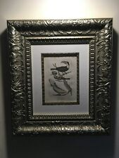 Amazing Framed Antique 1805 Copperplate Engraving,Exotic Birds,Cockatoo,Toucan!!