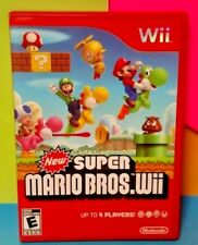 New Super Mario Bros. -  Nintendo Wii / Wii U Game Tested Complete 1-4 players