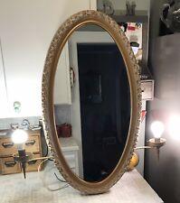 Vtg General Bathroom Products Oval Mirror Medicine Cabinet W/ lighted sconces