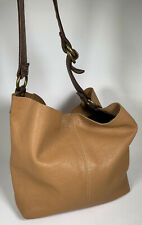 Lucky Brand Chestnut Brown Leather Hobo Purse