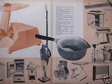 PUBLICITÉ 1961 LE CREUSET CASSEROLE EN FONTE ÉMAILLÉE DÉSSINÉE PAR R.LOEWY