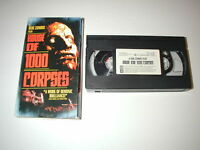 ROB ZOMBIE HOUSE OF 1000 CORPSES CULT HORROR VHS RARE HTF OOP