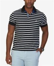 Nautica Classic Fit Striped Polo True Black Mens Size Small New