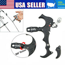 Archery Bow Release Aids 3 or 4 Finger Grip Thumb Caliper Trigger Automatic USA