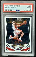 2004 Topps Chrome 2nd Year Lakers Star LEBRON JAMES Basketball Card PSA 9 MINT