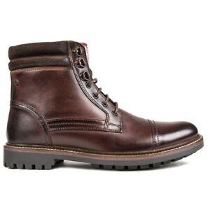 BASE LONDON Mens Buck Boots Brown