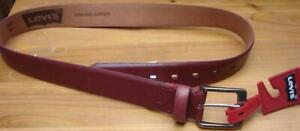 Levi's Genuine Leather Men's Belt - Red - Size 38 - BRAND NEW WITH TAGS