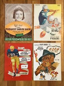 4 Green Bay Packers vs Philadelphia, Chicago, SF 49ers 1957 & '58 Programs