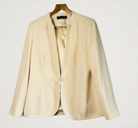 Jacques Vert Cream Jacket Size 14 Toggle Fastening Smart Event Party Wedding