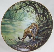 """1989 Hamilton Collection Porcelian Plate """"Deep in the Jungle� Limited Edition"""