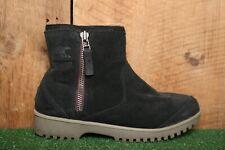 SOREL 'Meadow' Black Suede Waterproof Side Zip Winter Ankle Boots Women's Sz 6.5