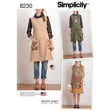 SIMPLICITY SEWING PATTERN DOTTIE ANGEL MISSES' APRON DRESS & TABARD XS-XL 8230