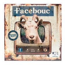 """Plaque Humoristique Facebook """"Facebouc"""" en métal décorative rétro - Class Déco"""