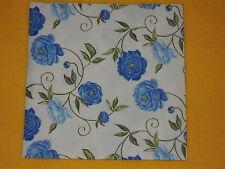 5 stück Servietten PEONY Blumen blau Viele Ranken Pfingstrosen Serviettentechnik