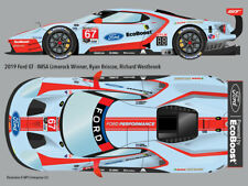 2019 #67 Ford GT retro-livery Limerock IMSA water transfer decals 1/24 4 Revell
