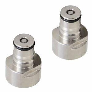 Ball Lock Corny to Sanke D Keg Coupler Quick Connector Post Set Gas / Liquid SS