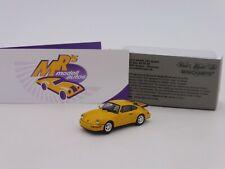 """Minichamps 870069102 # Porsche 911 (964) Turbo Baujahr 1990 """" gelb """" 1:87"""