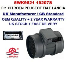 Mass Air Flow meter Sensor 5WK9621 19207S 9629471080 CITROEN PEUGEOT FIAT LANCIA