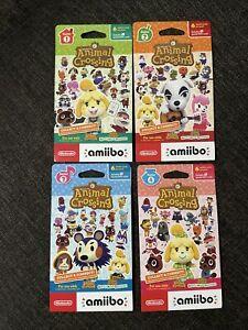 Animal Crossing Amiibo Card Pack Series 1, 2, 3, 4 (4 packs of 6 cards = 24)