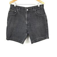 VTG Levis Strauss Signature 545 Mens Black Loose Fit Jean Shorts Size 36
