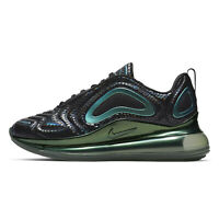 NIKE AIR MAX 720 GS Youth Athletic Running Shoes Black Green Boys Kids, Size 7 Y