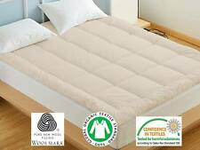 Wool Mattress Topper, Lambswool Pad, Mattress Cover, Twin, Full & Queen
