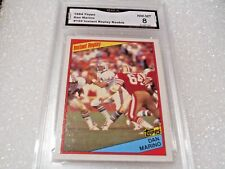 Dan Marino GRADED ROOKIE!! 1984 Topps #124 Miami Dolphins HOFer! 8X-1