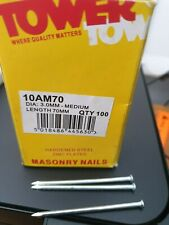 300 x Masonry Nails. Hardened. Steel. Brick. Concrete. Hammer. *Top Quality!