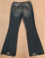 Silver Jeans AIKO Women's Wide Leg Distressed Denim Jeans 30/35 #C7