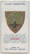 Burma British Empire Coat Arms South East Asia 100+ Y/O Trade Ad Card