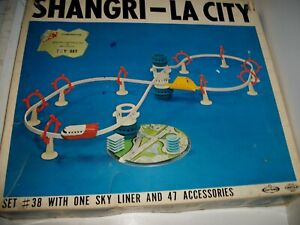 Vintage Tomy F.E. White SHANGRI-LA-CITY Monorail Set #38 made in Japan NICE! D