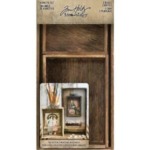 Tim Holtz Idea-ology Vignette Box Set 3pcs - 2 Boxes, 1 Tray TH93782