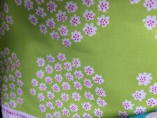 "Marimekko Puketti fabric half yard, 18x56"", cotton, Finland Rimala lime green"