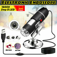 1600X Zoom 3in1 HD 1080P USB Microscope Digital Magnifier Endoscope Video Camera