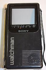 Sony Watchman Model FD-230 Vintage Portable Black White Television TV JAPAN